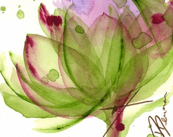 Modern Botanical Art Print,  Artichoke Flower, Large Archival Botanical Art, 12 x 12 Botanical Print