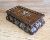 Green Trinket Box Ceramic Treasure Box