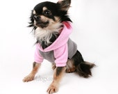 Custom Dog clothes name embroidery in Fleece Raglan Hoodie in your color