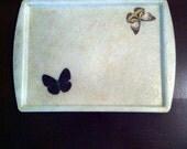 Mid Century Fiberglass Butterfly Serving Tray Platter