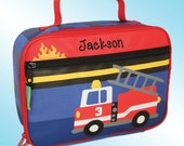 Lunchbox - Personalized and Embroidered - Fully Insulated - FIRE TRUCK