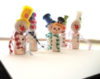 SALE Handmade Christmas snowmen gift tag Christmas decorations
