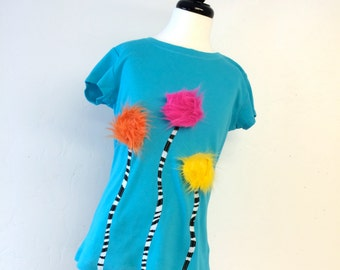 Dr Seuss The Lorax truffula trees longer length tee READY TO SHIP