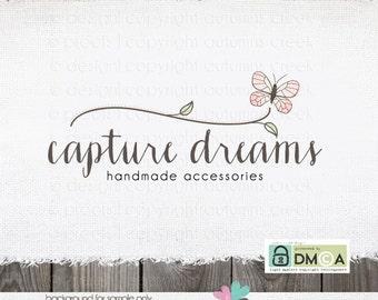 premade logo -logo design photography logo photographer logo premade logo design butterfly logo photography watermark hand drawn logo design