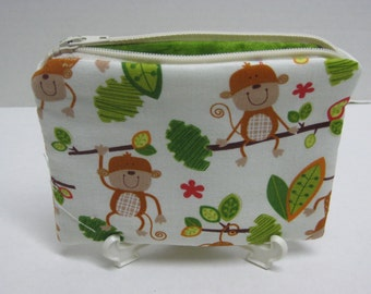Monkey Women Zipper Pouch