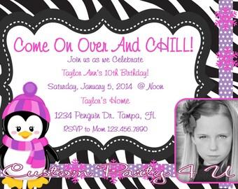 Penguin Photo Invitation