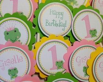 Princess Frog Cupcake Toppers