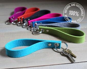 Merino Wool Felt Loop Keychain / Key Fob