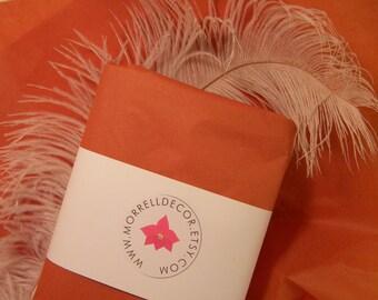 "Tissue Paper Rust Terracotta Orange / 24 Sheets 20"" X 30"" / Fall Autumn Wedding / Craft Supplies / Tissue Sheets / Crafting / DIY Pom Poms"