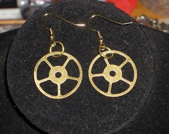 Clock Gear Earrings