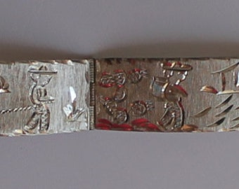 925 Silver Guav Mex Engraved Bracelet FREE DOMESTIC SHIPPING