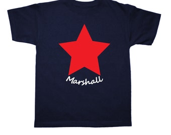 Personalized July 4th Star shirt for kids - pick your colors!