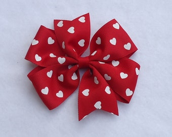 Boutique Hair Bow, Valentine's Day Hair Bow, Large Boutique Hair Bow,Valentine's Day Bow, Red Valentine's Hair Bows, Red Hair Bow