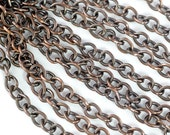 Solid Bronze Chain with Antique Patina