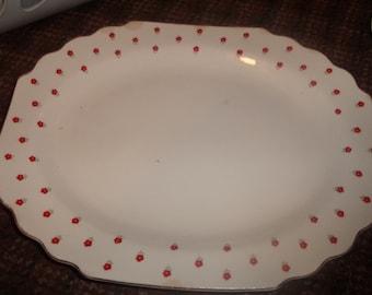 vintage w s george china blushing rose serving platter