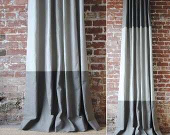 "96""L - Martha Panel - custom curtains - Pick Your Colors - Drapery Panels"