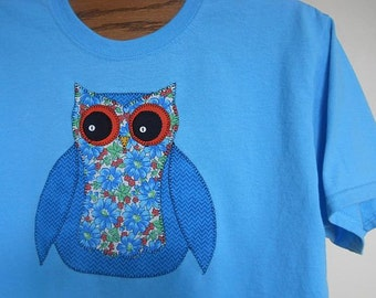 Applique Owl T-Shirt for Women, Sizes S-5X, Plus Size Clothing, Free Shipping, Nature, Summer Fashions, Owl, Easter, Spring Fashions, Cute