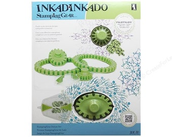 Stamping Kit Set 24 Pieces Inkadinkado  Deluxe Stamping Gear