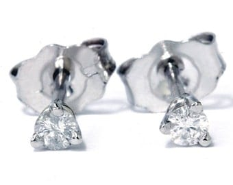 Platinum Diamond Studs .16CT