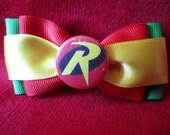 Robin Batman Hair Bow