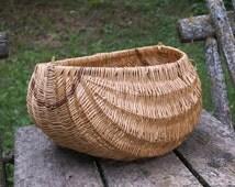 Indian BASKET -  mellon basket - stake  basket - antique basket - willow basket