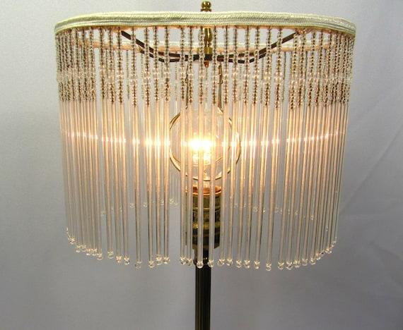 Table Lamp Shade Crystal Glass Custom Beads Handmade Oval