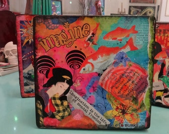 Imagine Collage Cigar Stash Box OOAK