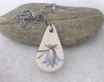 Harebell Flower Ceramic Necklace