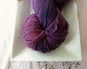 SALE! Amethyst Hand Dyed Oviraptor Merino Lace Weight Yarn