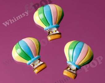 Large Hot Air Balloon Cabochons, Hot Air Balloon Cabochon, 30mm x 18mm (R6-090)
