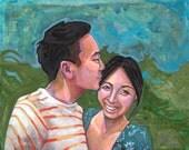11 x 14 Custom Portrait of Two People