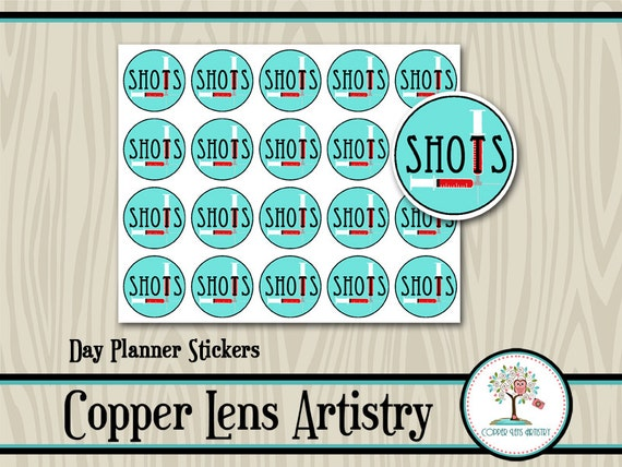 Calendar Planner Reminder Stickers : Shot reminder stickers planner sticker day