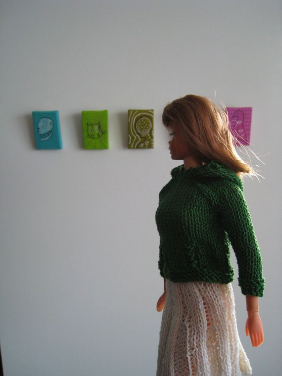 Kangaroo Hoodie Knitting Pattern : Barbie Doll Knitting Pattern, Hoodie, Kangaroo Jacket from ...