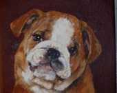 Custom Pet Portrait, Puppie painting in Acrylic on canvas