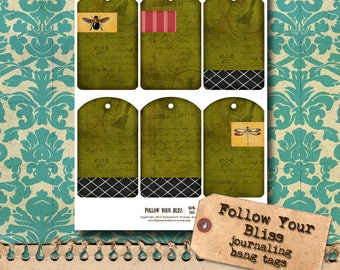 Follow Your Bliss - Printable Hang Tags