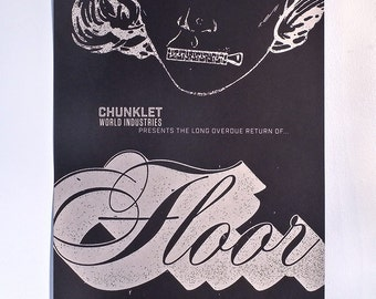 FLOOR Atlanta Screen Printed Gig Poster 15 x 21