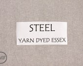 One Yard STEEL Yarn Dyed Essex, Linen and Cotton Blend Fabric from Robert Kaufman, E064-91