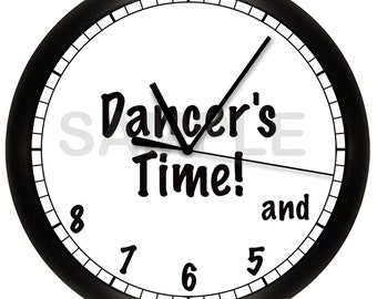 "Dancer's Time Wall Clock 10"" Diameter"