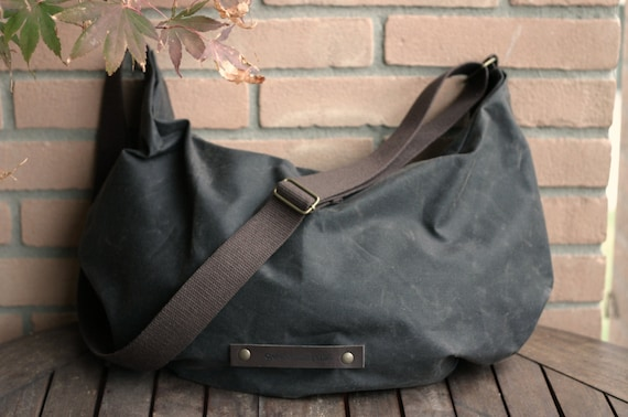 Waxed canvas bag hobo bag wax canvas bag crossbody bag