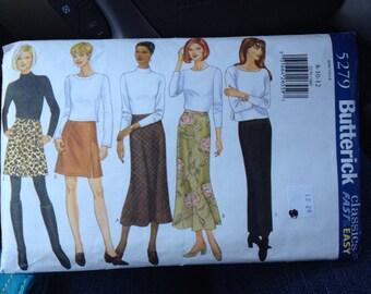 Butterick 5279 A-Line Bias Skirt