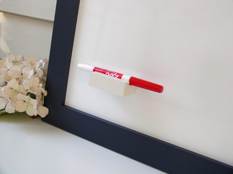 Magnetic Wood Dry Erase Pen Marker Holder Refrigerator or