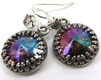 Purple Haze Swarovski Crystal Earrings with Lots of Sparkle