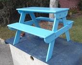 Handmade Wooden Children's Picnic Table