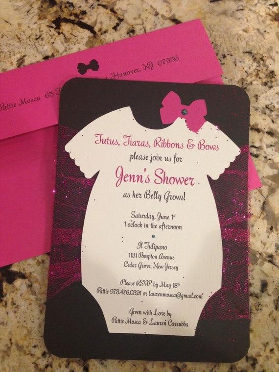 Items Similar To Tutu Onsies Bows Handmade Baby Shower