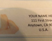 Newborn Baby Feet Return Address Label