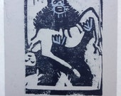 Note card-- monster carrying woman