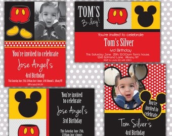 Happy BdayBoy Invitations/ Party digital printable invitation