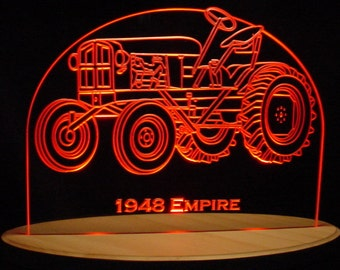 "1948 Tractor Acrylic Lighted Edge Lit LED Farm Equipment Sign 13"" Full Size Made in the USA"