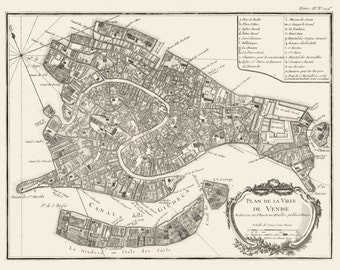 Vintage Map - Venice, Italy 1764