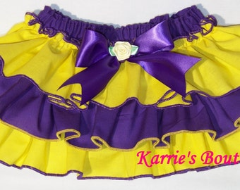 LSU Diaper Cover / Tigers / Purple & Gold / Bloomers / Ruffles / Sassy Pants / Baby / Infant / Toddler / Girl / Custom Boutique Clothing